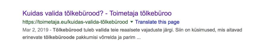 tõlkebüroo valimine
